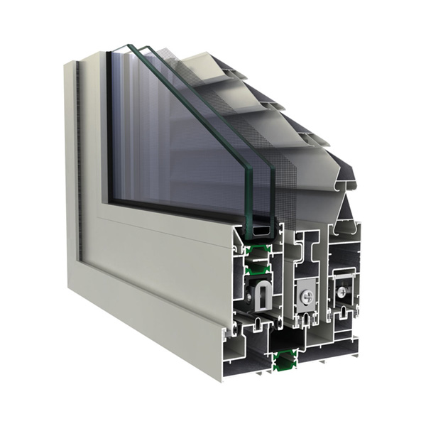 Sliding thermal insulation system, certified for thermal insulation with a thermal conductivity of profiles with Uf of 3.02 W / (m2K) according to the certificate of the German notified laboratory Ift Rosenheim.